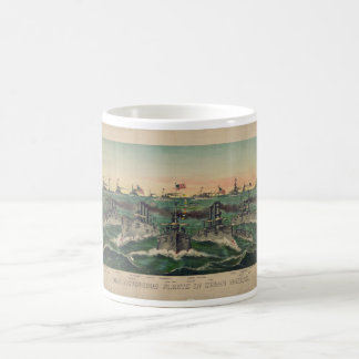 Our Victorious Fleets in Cuban Waters Currier Ives Coffee Mug