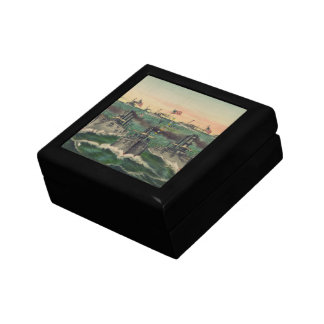 Our Victorious Fleets in Cuban Waters Currier Ives Trinket Box