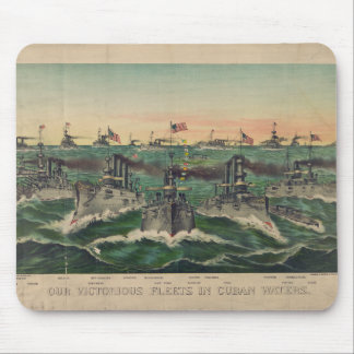 Our Victorious Fleets in Cuban Waters Currier Ives Mouse Pad