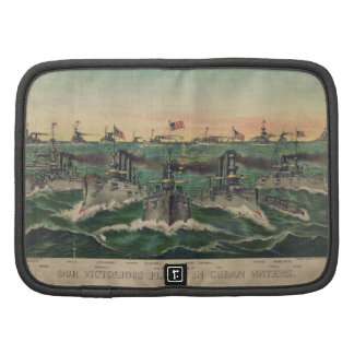 Our Victorious Fleets in Cuban Waters Currier Ives Organizer