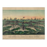 Our Victorious Fleets in Cuban Waters Currier Ives Postcard