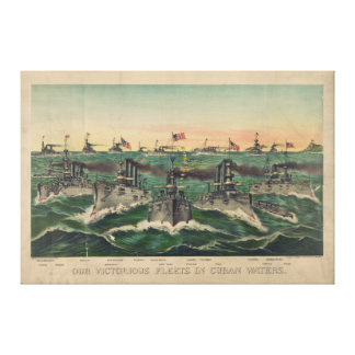 Our Victorious Fleets in Cuban Waters Ives Canvas Print