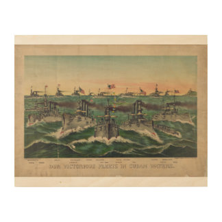 Our Victorious Fleets in Cuban Waters Ives Wood Wall Decor