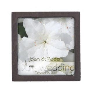 Our Wedding Azalea Floral Photography Gift Box