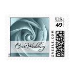 Our Wedding : Blue Rose : Postage Stamp