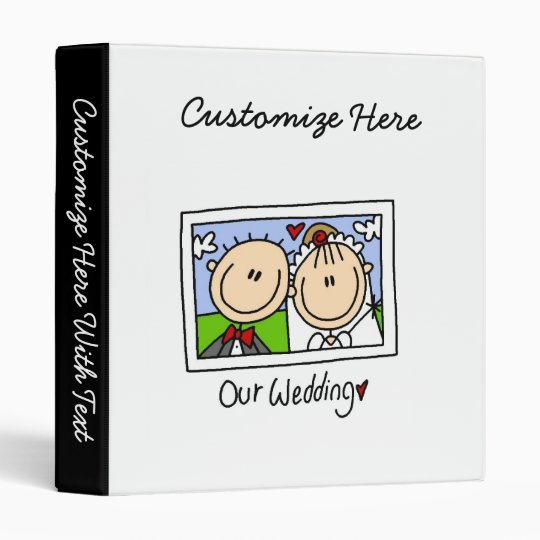 Our Wedding Bride and Groom T-shirts and Gifts 3 Ring Binder