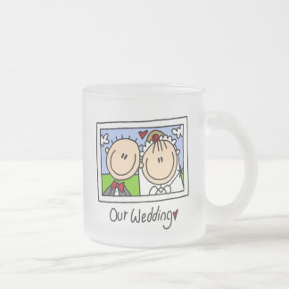 Our Wedding Bride and Groom T-shirts and Gifts Frosted Glass Coffee Mug