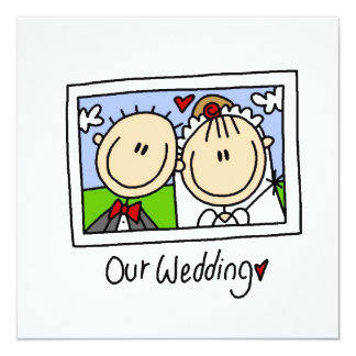 Our Wedding Bride and Groom T-shirts and Gifts Personalized Invites