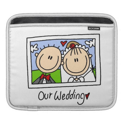 Our Wedding Bride and Groom T-shirts and Gifts Sleeves For iPads