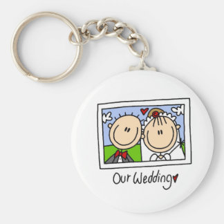 Our Wedding Bride and Groom T-shirts and Gifts Keychains
