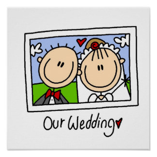 Our Wedding Bride and Groom T-shirts and Gifts Poster