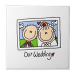 Our Wedding Bride and Groom T-shirts and Gifts Ceramic Tile