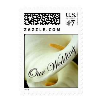 Our Wedding - Calla Lily Postage