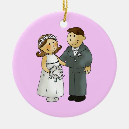 Our wedding ceramic ornament