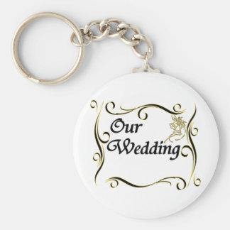 Our Wedding Custom Keychain