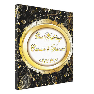 Our Wedding Custom text Canvas Print