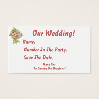 Our Wedding!-Customize Business Card