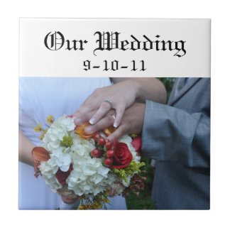 Our Wedding Date Tile