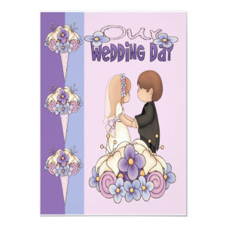 Our Wedding Day 5x7 Paper Invitation Card