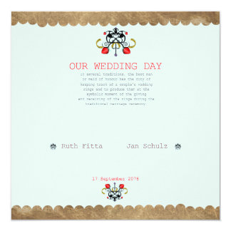 OUR WEDDING DAY CARD