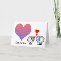 Our wedding day (cartoon sheeps) photo card