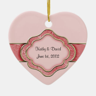 Our Wedding Day (Coral) Ceramic Ornament
