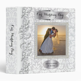 Our Wedding Day | Elegant Damask Binder