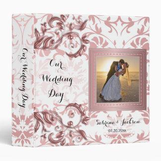 Our Wedding Day | Elegant Pink Damask Binder