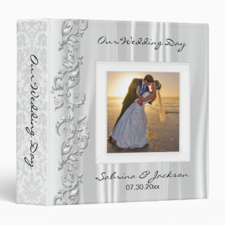Our Wedding Day | Elegant White Satin Binder