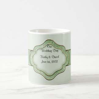 Our Wedding Day (Green) Classic White Coffee Mug