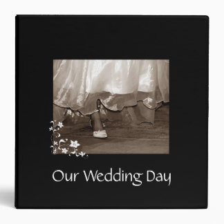 Our Wedding Day Large Binder Bride Walking