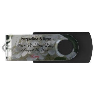 Our Wedding Day Love White Lime Hydrangea USB USB Flash Drive