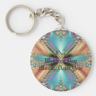 Our Wedding Day Soft Colors Keychain