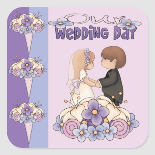 Our Wedding Day Square Sticker
