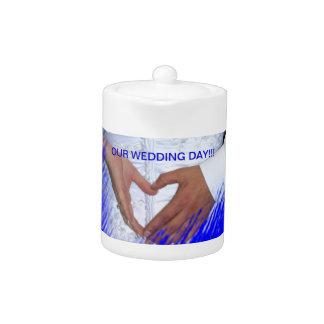 Our Wedding Day TEA POT!! Teapot