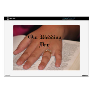 """OUR WEDDING DAY Zazzle Skin Decal For 15"""" Laptop"""