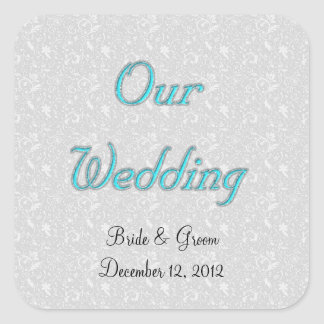OUR WEDDING ENVELOPE SEAL STICKERS TEMPLATE
