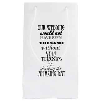 Our Wedding Gift Bag - Small, Glossy