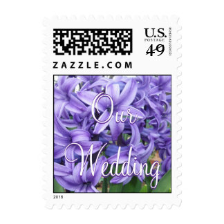 Our Wedding Grape Hyacinths Postage
