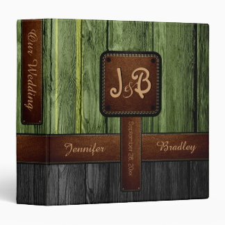 Our Wedding | Green and Black Wood Album Binder