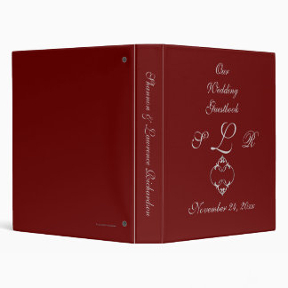 """Our Wedding Guestbook"" - Silver/Gray Flourish Loo Binder"