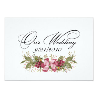 Our Wedding Personalized Invitations