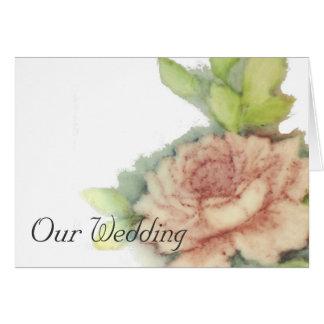 Our Wedding Invitation-Customize Card