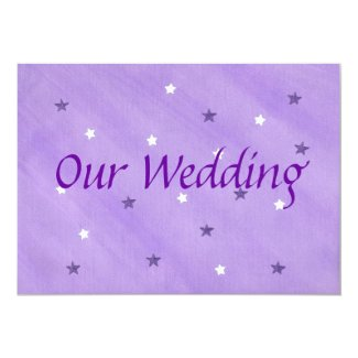 Our Wedding Invitations, Purple and White Stars
