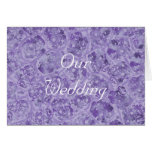 Our Wedding Invitations, shades of purple Greeting Card
