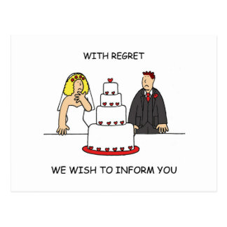 Our wedding is cancelled. postcard