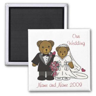 Our Wedding Magnet Teddy Bears