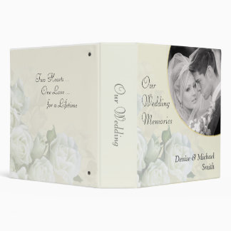 Our Wedding Memories Personalized Photo Album 3 Ring Binder