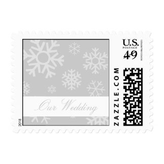 Our Wedding Multiple Snowflakes Postage (Silver)