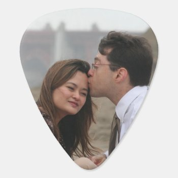 Our Wedding Personalized Photo Guitar Pick by bridalwedding at Zazzle